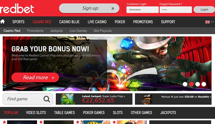 Recension 300 bonus Redbet 219494