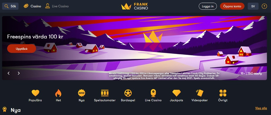 Freespins på stickers Frank 316500