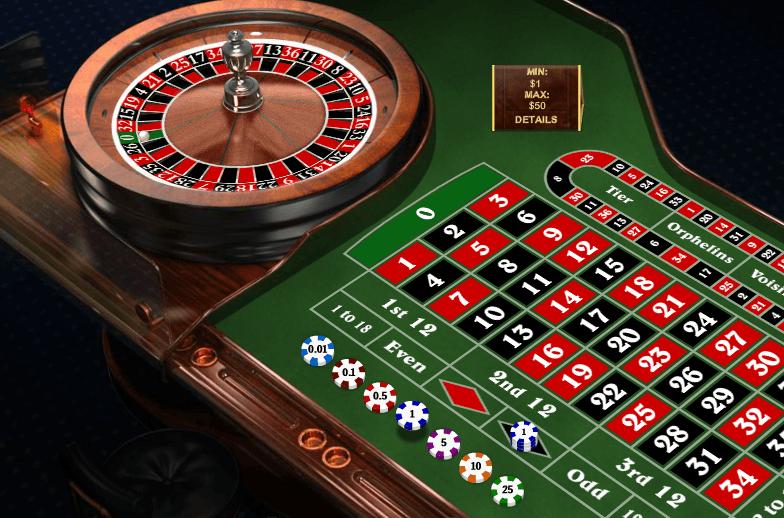 Roulette grön american 279497